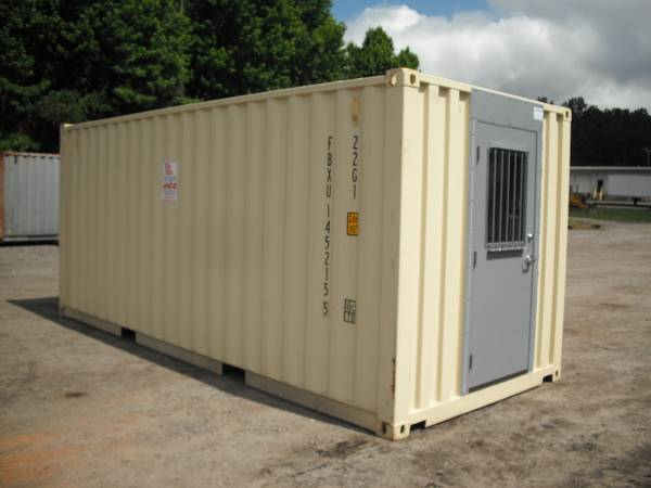20ft mobile office container with security door