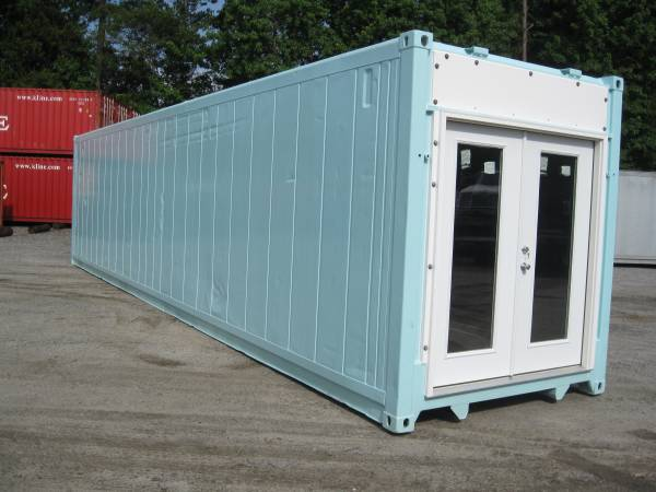 40ft container mobile office french doors
