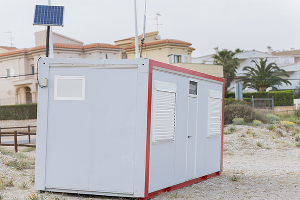20 ft office container with solar panel