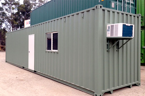Upgraded 40 ft. mobile office container with air conditioning
