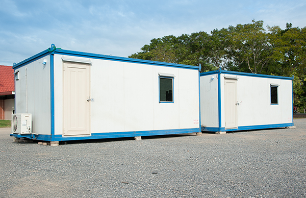 Two office/storage combo office trailers (20 foot)